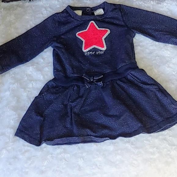 Koala Kids Other - *B2G1* Baby Navy Long Sleeve Star Dress